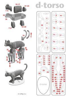 Výsledek obrázku pro D-Torso Cardboard Animals - Horse Cardboard Sculpture, Cardboard Paper, Cardboard Crafts, Paper Toys, Wood Crafts, Diy And Crafts, Cardboard Deer Heads, Laser Cutter Projects, Cnc Projects