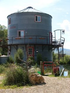 house in a grain silo.  i saw one of these on MTV cribs.  it was pretty cool.