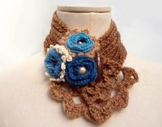 Hey, I found this really awesome Etsy listing at https://www.etsy.com/listing/69598415/crochet-camel-beige-scarflette-caramel