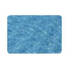 "Susan Sanders ""Calm Blue Pool Water"" Blue Teal Photography Memory Foam Bath Mat"