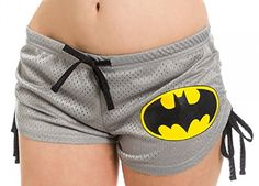 Large Grey Mesh Batman Logo Booty Shorts L