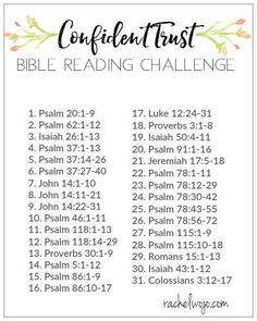 Is your relationship with God limited by your inability to trust him fully? Then you'll love the Confident Trust Bible reading challenge.