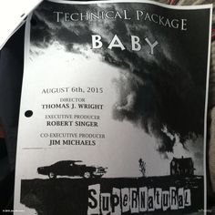 """Jim Michaels @TheJimMichaels   Time to tech survey episode 11.04 for #SUPERNATURAL -- starring """"BABY!l #SPNFamily"""