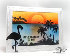 Flamingo Sunset by stampersandee - Cards and Paper Crafts at Splitcoaststampers