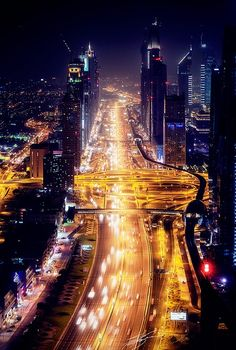 Sheikh Zayed Road. All where the party happens. Ha!