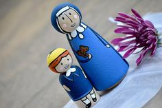 Madeline and Miss Clavel Toys Peg Dolls