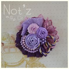 corsage , fabric flower, kode: , order >> line : notzdesign , WA Cloth Flowers, Fabric Roses, Burlap Flowers, Beaded Flowers, Tissu Style Shabby Chic, Shabby Chic Flowers, Kanzashi Tutorial, Fabric Brooch, Fabric Flower Tutorial