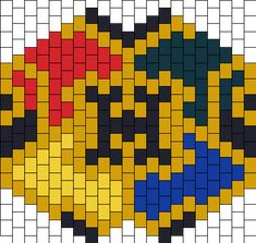 Harry Potter Hogwarts Crest Mask Bead Pattern | Peyote Bead Patterns | Misc Bead Patterns