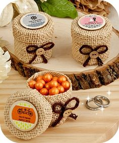 Buy Design Your Own Burlap Favor Boxes  - DIY Favors - coupon code is freeshipping