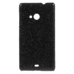 Mesh - Microsoft Lumia 535 Hoesje - Back Case Hard Glitter Zwart | Shop4Hoesjes