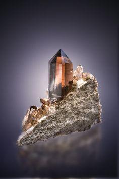 Quartz var,Smoky - Switzerland Size: 13.0 cm