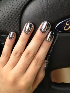 Our favorite nail designs, tips and inspiration for women of every age! Great gallery of unique nail art designs of 2017 for any season and reason. Find the newest nail art designs, trends & nail colors below. Gorgeous Nails, Pretty Nails, Amazing Nails, Nail Art Chrome, Red Chrome Nails, Color Chrome, How To Do Nails, Fun Nails, Nice Nails