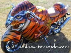 Cenla Custom Cycles - Hayabusa Tiger I think you're  gonna see me pin this one a lot of times.........I love this!!