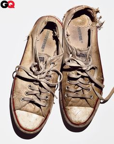 Converse Chuck Taylor All Star Oxford  First introduced: 1957  This pair bought: 2009    Perfect Is Boring  Adding a pair of thrashed low-top Chucks to a crisp cotton suit keeps you from looking like a worker drone.