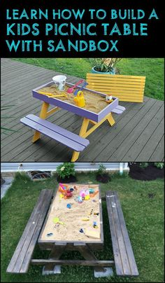 The Ultimate Picnic Table and Sandbox Combo for Kids!