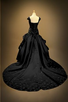 Black Gothic Wedding Dress Ball Gown by GothicWeddingDress on Etsy, $1490.00
