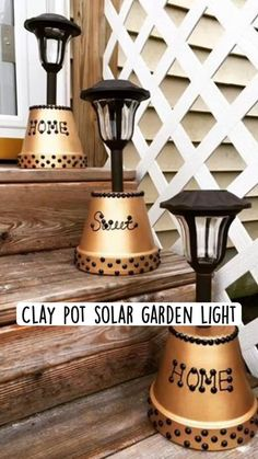 Clay Pot Projects, Clay Pot Crafts, Diy Home Crafts, Garden Crafts, Garden Art, Diy Clay, Cute Crafts, Diy Projects, Clay Flower Pots