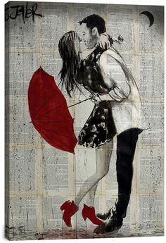 iCanvas Never Mind The Rain by Loui Jover Canvas Print http://shopstyle.it/l/pSkN