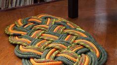 Gorgeous mat/rug made from sailing rope.