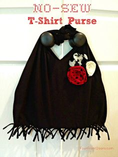 No-Sew T-Shirt Purse - Super Easy and Fun to Make!