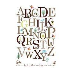 Lovely Abc poster for learning the alphabet. A beautiful decorative feature on the wall for many years to come. Litho printed in England with vegetable inks on 300gms recycled paper. Delivered in a sturdy tube. Size A2, 59.4 x 42 cm.
