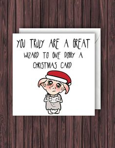 Great Wizard. Harry Potter Christmas Card. Funny xmas Card.