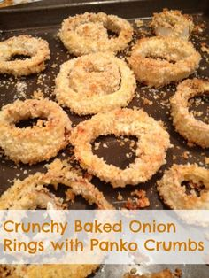 Crunchy Baked Onion Rings with Panko Crumbs