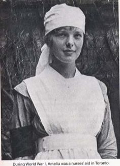 Amelia Erhart - she was a nurses aid in Toronto, CA during WW1. Many of her patients were pilots. by lucinda
