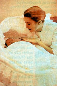 1/23/1957: Grace, Princess of Monaco, with baby Princess Caroline of Monaco