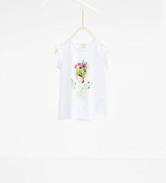ZARA - NIÑOS - Camiseta muñeca tropical