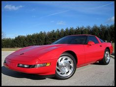 1994 Chevrolet Corvette, Red/Red, 6-speed