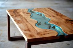 Unique Woodworking Coffee Table Design Ideas - Master Home Decor Coffee Table Design, Unique Coffee Table, Creative Coffee, Coffe Table, Into The Woods, Decoration Inspiration, Design Inspiration, Live Edge Wood, Resin Table