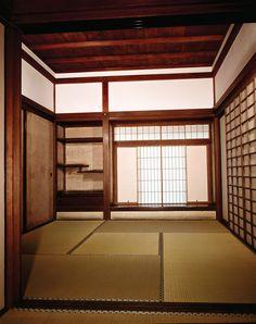 Japanese architecture: shoin-zukuri interior in the Ginkaku Temple