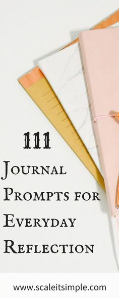 Journal prompts for everyday self reflection. Explore your inner thoughts and feelings on a daily basis with these journal prompts for adult journaling. Journal Log, Bullet Journal Journaling, Bullet Journals, Art Journaling, Yoga Journal, Junk Journal, Journal Prompts For Adults, Daily Journal Prompts, Journal Topics