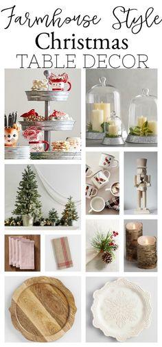 Farmhouse Style Christmas Table Decor