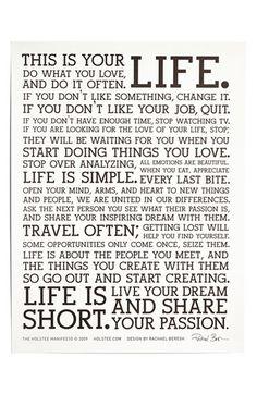 life 'manifesto' poster http://rstyle.me/n/j77gmr9te
