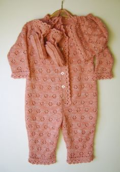 Knitted Baby Romper Suit with Booties and by SasasHandcrafts, $78.00