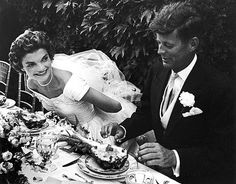 Jacqueline Bouvier and then Congressman John Kennedy were married on September 12, 1953, at Newport, Rhode Island. The wedding was considered the social event of the season with an estimated 700 guests at the ceremony and 900 at the lavish reception that followed at Hammersmith Farm.