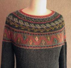 Machu Picchu Knitting pattern by Carol Sunday Fair Isle Knitting, Arm Knitting, Pull Jacquard, Knitting Patterns, Crochet Patterns, Icelandic Sweaters, I Cord, Fair Isle Pattern, Knit In The Round