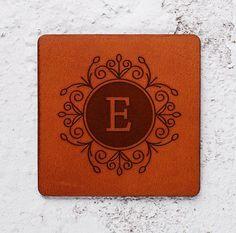 personalised monogram coaster set wedding gift ideas monogrammed