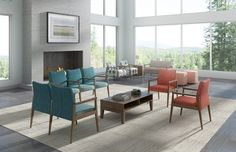 Spruce, a highly adaptable, mid-century modern collection offers both aesthetic and functional value spreading from lounge to tandem and patient.