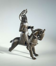 Possibly candlestick: Mounted knight, anonymous, c. 1275 - c. Museum, Copper, Brass, European History, 14th Century, Archaeology, Candlesticks, Knight, Lion Sculpture