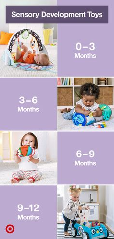 Find sensory development activities & toys by age to help baby learn through creative play. Baby Sensory Play, Baby Play, Newborn Baby Tips, Baby Growth, Baby Care Tips, Baby Necessities, Baby Education, Baby Development, Baby Health