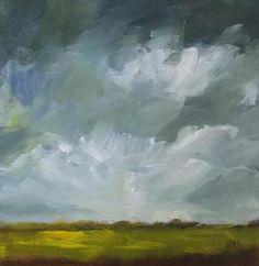 original oil landscape painting clouds sky storm. $55.00, via Etsy.