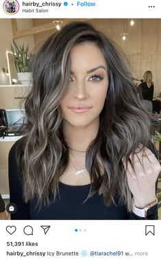 Brown Hair With Blonde Highlights, Brown Hair Balayage, Hair Color Balayage, Mom Hairstyles, Spring Hairstyles, Pretty Hairstyles, Ash Hair, Hair Color And Cut, Brunette Hair