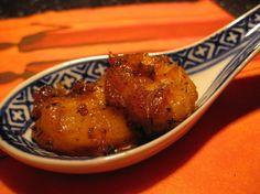 Bouchées caramélisées ananas et crevettes