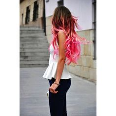 20 Pink Hairstyle Pics Hair Color Inspiration StrayHair ❤ liked on Polyvore featuring beauty products, haircare and hair