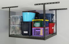 "Monsterrax - 4x4 Overhead Garage Storage Rack (24'-45"")"