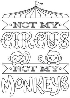 Sewing quotes printables urban threads ideas for 2019 Quote Coloring Pages, Printable Adult Coloring Pages, Colouring Pages, Coloring Books, Coloring Sheets, Monkey Coloring Pages, Embroidery Designs, Embroidery Works, Paper Embroidery