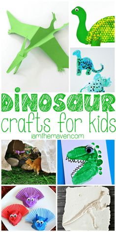 are the Dinosaur Crafts for kids you are looking for! Get ready for Disney's The Good Dinosaur with these Dinosaur Crafts!Get ready for Disney's The Good Dinosaur with these Dinosaur Crafts! Dinosaurs Preschool, Dinosaur Activities, Preschool Crafts, Activities For Kids, Dinosaur Art Projects, Dinosaur Crafts For Preschoolers, Spanish Activities, Vocabulary Activities, Preschool Kindergarten